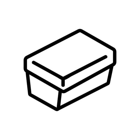 rectangular lunch box icon vector. rectangular lunch box sign. isolated contour symbol illustration Иллюстрация