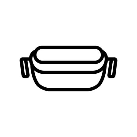 food container with handles icon vector. food container with handles sign. isolated contour symbol illustration Иллюстрация