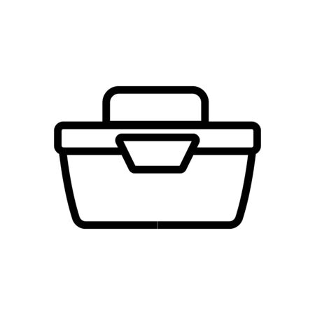 portable food container side view icon vector. portable food container side view sign. isolated contour symbol illustration