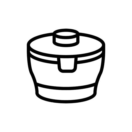round robust food container icon vector. round robust food container sign. isolated contour symbol illustration