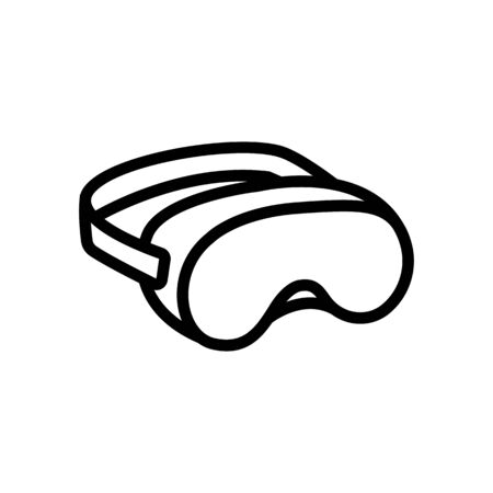 diopter swimming mask to improve eye vision icon vector. diopter swimming mask to improve eye vision sign. isolated contour symbol illustration