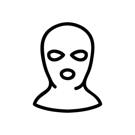 balaclava per person icon vector. balaclava per person sign. isolated contour symbol illustration Ilustracja
