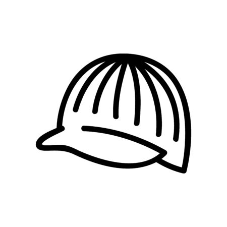 hat cap with visor icon vector. hat cap with visor sign. isolated contour symbol illustration