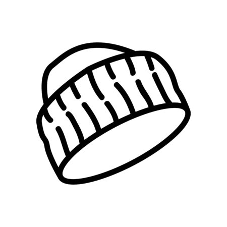 cap with wide knitted visor icon vector. cap with wide knitted visor sign. isolated contour symbol illustration