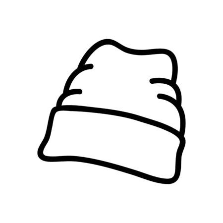 wide lapel beanie icon vector. wide lapel beanie sign. isolated contour symbol illustration