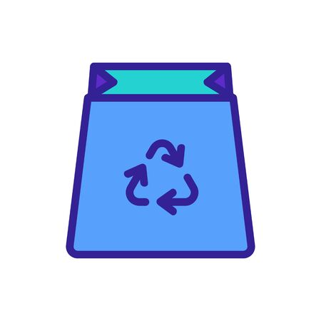 recycling waste icon vector. recycling waste sign. color symbol illustration Illustration