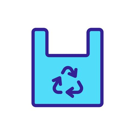plastic recycling icon vector. plastic recycling sign. color symbol illustration Ilustracja