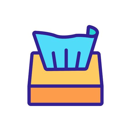 stretched napkin box icon vector. stretched napkin box sign. color symbol illustration