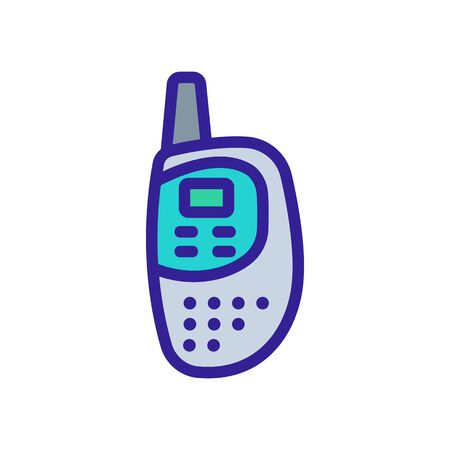 professional walkie talkie for communication icon vector. professional walkie talkie for communication sign. color symbol illustration Ilustracja