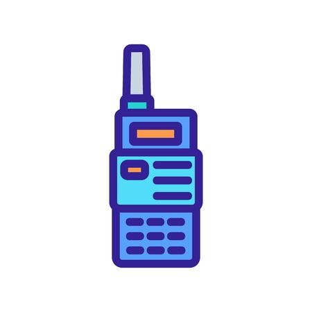 professional equipment walkie-talkie icon vector. professional equipment walkie-talkie sign. color symbol illustration