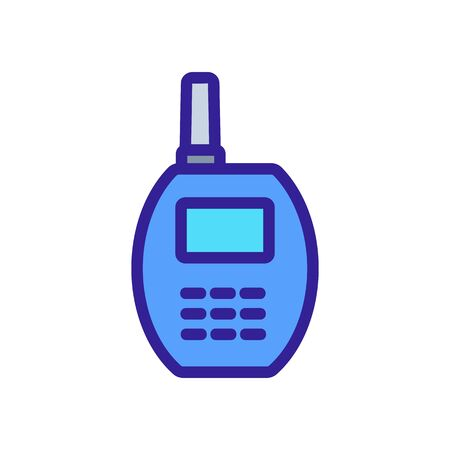 rounded walkie-talkie icon vector. rounded walkie-talkie sign. color symbol illustration