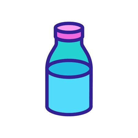 canned liquid jar icon vector. canned liquid jar sign. color symbol illustration Vectores