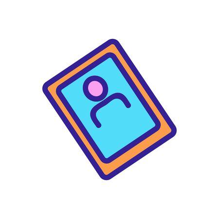 selfie pictogram icon vector. selfie pictogram sign. color symbol illustration