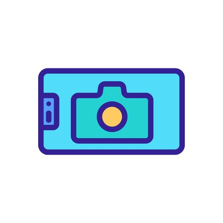 selfie camera icon vector. selfie camera sign. color symbol illustration