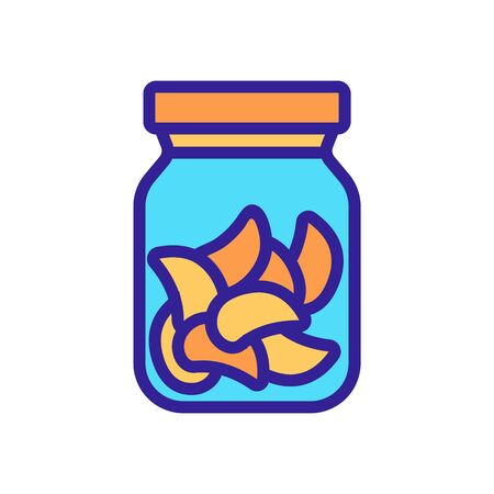canned food can icon vector. canned food can sign. color symbol illustration
