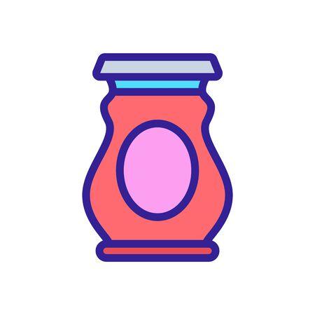 pickled jar icon vector. pickled jar sign. color symbol illustration