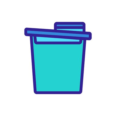 food cereal storage container icon vector. food cereal storage container sign. color symbol illustration
