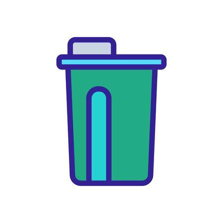 lunch glass bottle icon vector. lunch glass bottle sign. color symbol illustration