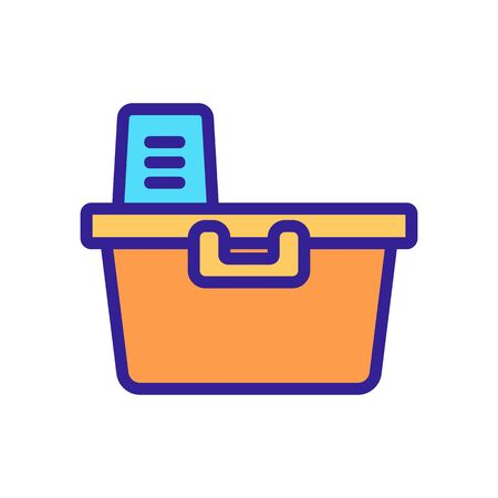 storage container icon vector. storage container sign. color symbol illustration