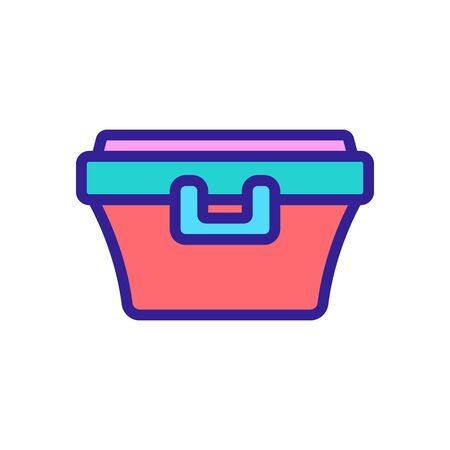 food container with latch handle icon vector. food container with latch handle sign. color symbol illustration Иллюстрация