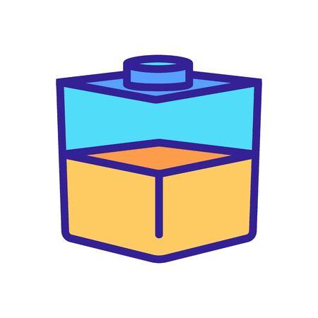square liquid container icon vector. square liquid container sign. color symbol illustration