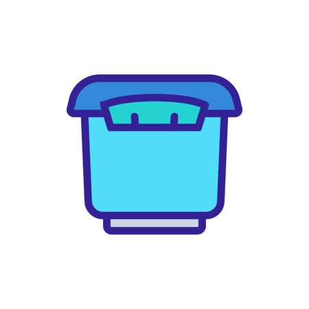 tightly closed storage container icon vector. tightly closed storage container sign. color symbol illustration