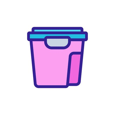 food container set icon vector. food container set sign. color symbol illustration