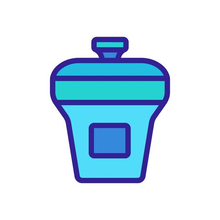 food container rectangular upright with lid icon vector. food container rectangular upright with lid sign. color symbol illustration