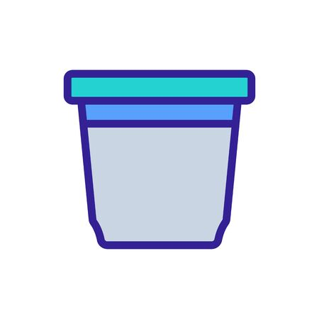 food container rectangular upright icon vector. food container rectangular upright sign. color symbol illustration