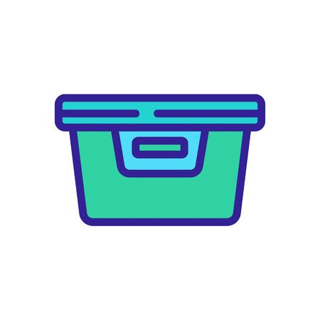 plastic food container with handle icon vector. plastic food container with handle sign. color symbol illustration
