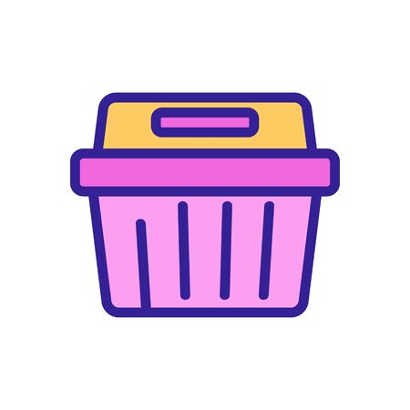 rectangular food container icon vector. rectangular food container sign. color symbol illustration