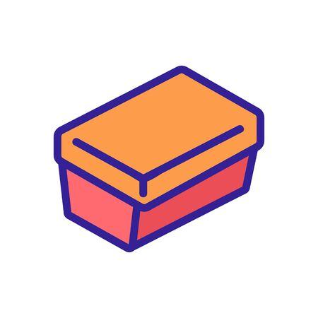 rectangular lunch box icon vector. rectangular lunch box sign. color symbol illustration