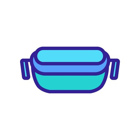 food container with handles icon vector. food container with handles sign. color symbol illustration