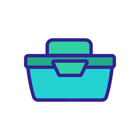 portable food container side view icon vector. portable food container side view sign. color symbol illustration Иллюстрация