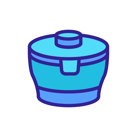 round robust food container icon vector. round robust food container sign. color symbol illustration