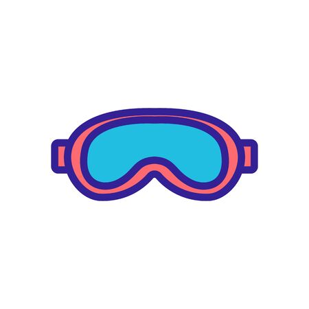 swimming mask with cast nose bridge icon vector. swimming mask with cast nose bridge sign. color symbol illustration