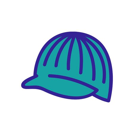 hat cap with visor icon vector. hat cap with visor sign. color symbol illustration