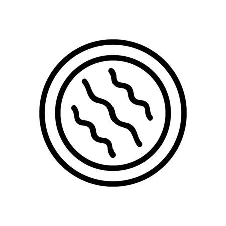makeup remover cotton exfoliate pad icon vector. makeup remover cotton exfoliate pad sign. isolated contour symbol illustration