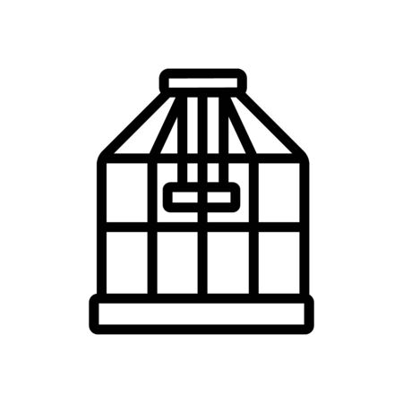 cage for domestic bird icon vector. cage for domestic bird sign. isolated contour symbol illustration
