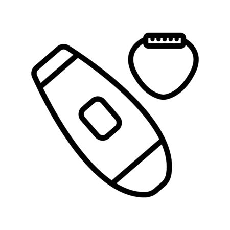 depilation gadget icon vector. depilation gadget sign. isolated contour symbol illustration Vettoriali