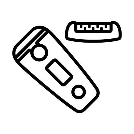 depilation electronic equipment icon vector. depilation electronic equipment sign. isolated contour symbol illustration Ilustración de vector