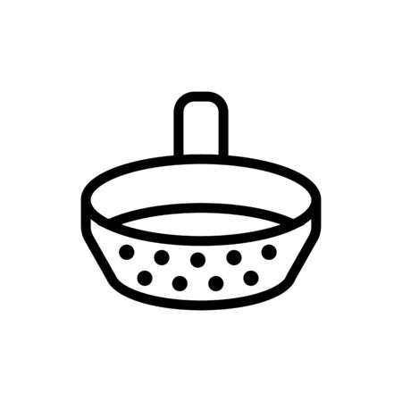 sieve with handle icon vector. sieve with handle sign. isolated contour symbol illustration Vettoriali