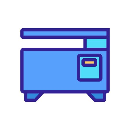 printer machine icon vector. printer machine sign. isolated color symbol illustration