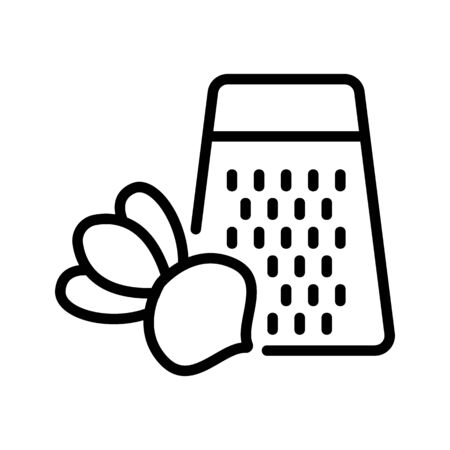 turnip and grater icon vector. turnip and grater sign. isolated contour symbol illustration