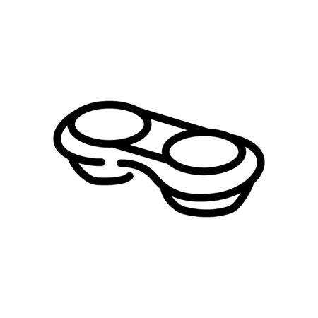 contact lens in container icon vector. contact lens in container sign. isolated contour symbol illustration