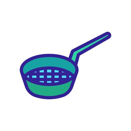 sieve with handle icon vector. sieve with handle sign. isolated color symbol illustration Vettoriali