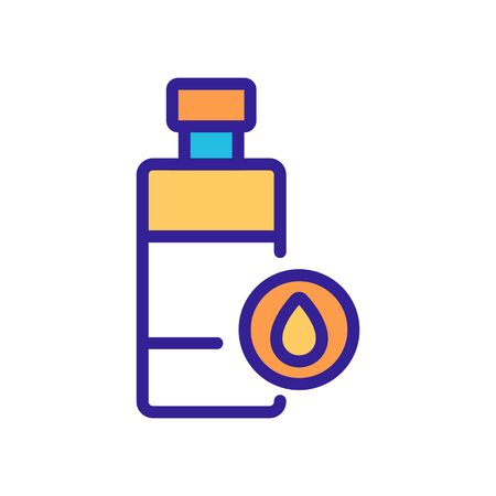 oil cosmetic lotion bottle icon vector. oil cosmetic lotion bottle sign. isolated color symbol illustration