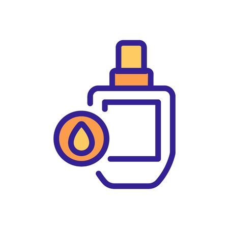 oil cosmetic bottle icon vector. oil cosmetic bottle sign. isolated color symbol illustration