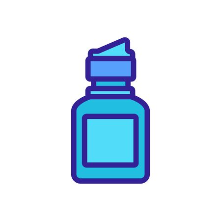 contact lens protection liquid bottle icon vector. contact lens protection liquid bottle sign. isolated color symbol illustration
