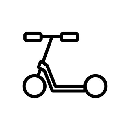 kid kick scooter icon vector. kid kick scooter sign. isolated contour symbol illustration